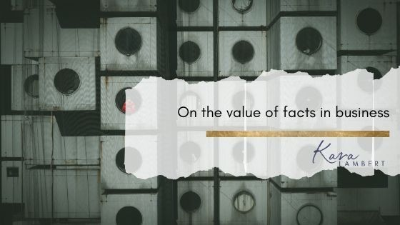 Using facts in business