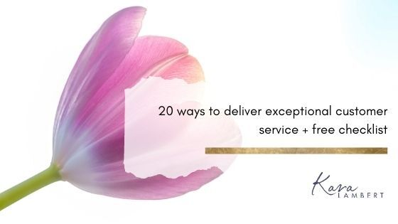 deliver exceptional customer service free checklist