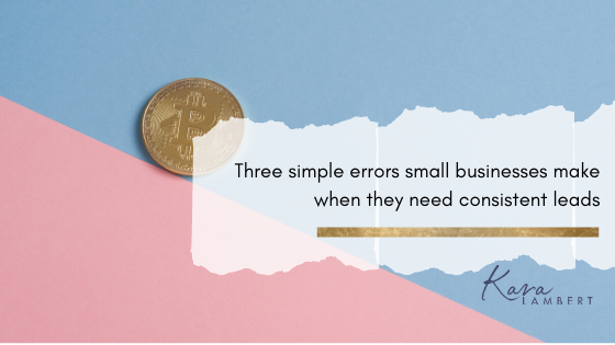 three simple errors small bu
