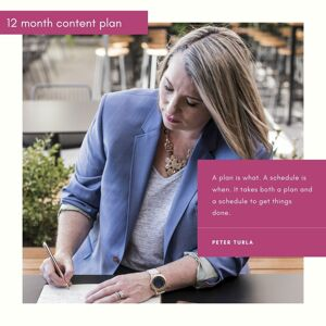 12 month content plan