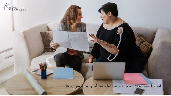 generosity knowledge small business