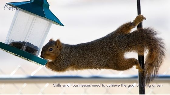 Skills small business owners need to be driven and achieve goals.