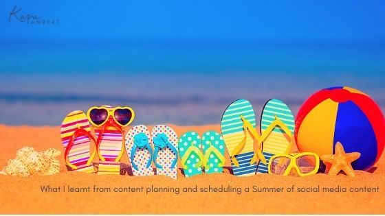 plan scheduling social media content for a summer