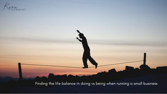 life balance small business owner